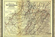 Poster, Many Sizes; Map Of West Virginia Midland Railway 1883