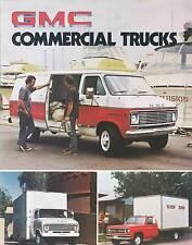 1976 GMC Commercial Trucks Sales Brochure Vans Trucks
