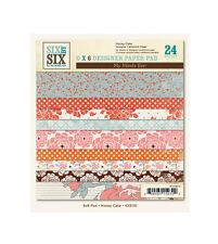 "My Mind's Eye  6X6110 ""Honey Cake""  6x6 Designer Paper Pad 24  Sheets"