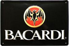 """Edles """"BACARDI""""- FLEDERMAUS- Blechschild, LOGO BAT/VAMP"""