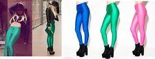 DAISY STREET Ladies Funky 80s Dressing up Disco Pants Leggings Pink Blue Green