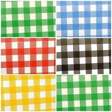 Grandi Gingham CHECK PVC Vinile Tessuto Incerato cucina Cafe Bar wipeclean tablecloth