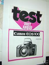 TEST PHOT ARGUS  CANON  EOS 100 en francais