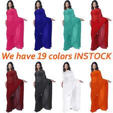 NW Plain Chiffon Party Wear Saree Sari Belly Dance Fabric Drape Curtain JUPE TOP