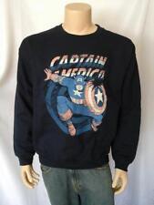 CAPTAIN AMERICA Marvel Comics Licensed Navy Blue Crew neck Sweatshirt
