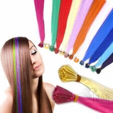 Bunte Haarsträhnen 10x Bunte Haare 10 Farben Microring Extensions Kunsthaar