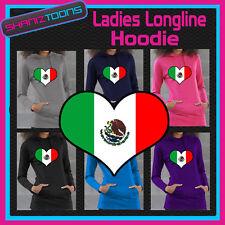 Mexique Drapeau amour coeur Mesdames palangre à capuche sweat à capuche