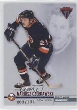 2001 Pacific Private Stock Titanium Retail Red 86 Mariusz Czerkawski Hockey Card