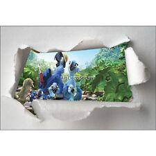 Stickers enfant papier déchiré Rio réf 7644 7644