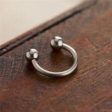 Surgical Steel Horseshoe Nose Lip Ear Teeth Daith Tragus Piercing Hoop Ring