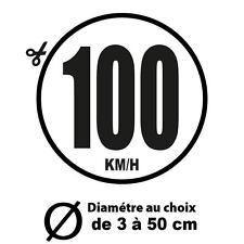 100 KM/H LIMITATION VITESSE BUS TRACTEUR POIDS LOURD ADHÉSIF AUTOCOLLANT STICKER