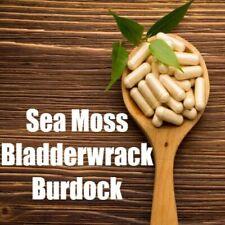 Sea Moss/Irish Moss and Bladderwrack Capsules PLUS Burdock All Natural Dr Sebi