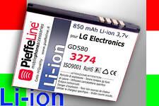 per LG Electronics GD580 GD 580 Batteria Li-ion 850mAh