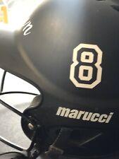 Baseball Softball Helmet Decal Decals Number Numbers Custom FAST Team Stickers