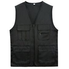 Mens Multi Pocket Utility Waistcoat Work Jacket Gilet Fishing Hunter Vest SPW