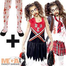 Liceo Horror Zombie + Collant Ragazze Costume Halloween Per Bambini Costume