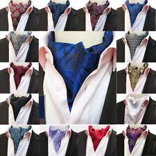 Men Classic Flowers Paisley Cravat Ascot Scarves Wedding Party Business Neckties