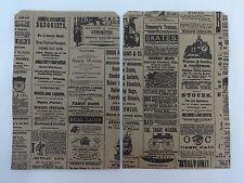 """6.25"""" x 9.25"""" Newsprint Design Kraft Paper Merchandise Bag Retail Shopping Bags"""