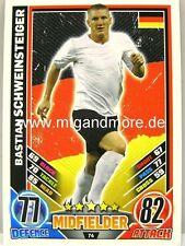 Match Attax Euro EM 2012 - #074 Bastian Schweinsteiger - Deutschland