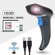 Handheld Laser Barcode Reader (2.4GHz Wireless & USB2.0 Wired) Receiver Storage
