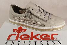 Rieker mujer Zapatos de cordones, zapatos, Zapatillas, beige, m8504 NUEVO