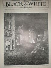 GIORNALE RIGA New York City USA Elezioni Presidenziali NOTTE 1892 Print