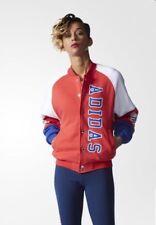Adidas Original LA Varsity Track Jacket AB2633 TT Bomber Women's Rare Red Blue