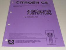 Werkstatthandbuch Citroen C8 Ausrüstung Ausstattung