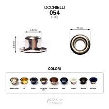 Occhielli 054 foro Ø 4,5mm Ferro/Ottone 100 pz per borse scarpe stoffa cuoio