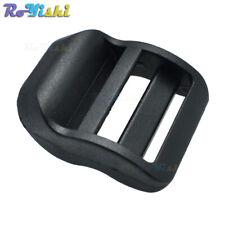 """1"""" Plastic Ladder Lock Slider Buckle Adjustable Black for Backpack Straps"""