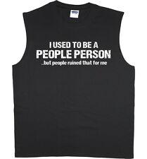 Men's sleeveless shirt funny saying decal tshirt tank top muscle tee shirt