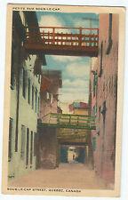 Quebec Petite Rue Sous-Le-Cap Linen Vintage Postcard