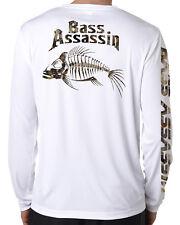 Dixie Land Outdoors Camo Bass  Microfiber long sleeve fishing t shirt 50+ uv