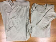 Military Silkweight Long Underwear Pants Shirt Thumbhole Long John Base Layer