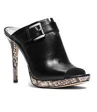 Mujer Michael Kors Isabella Punta Abierta Zapatos sin Talón,Multi Tallas Negro /