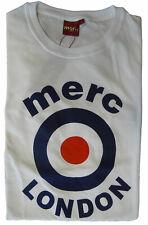 T-shirt Maglia Maniche Corte MERC London 100% Cotone Uomo Men Bianco White 19091