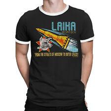 Mens T-Shirt LAIKA SPACE DOG Soviet Union USSR Russia SPUTNIK 2 Moscow Retro