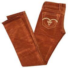 Women's ROCK REVIVAL SLIM STRAIGHT CORDUROY Jeans BURNT ORNGE SZ:25-31