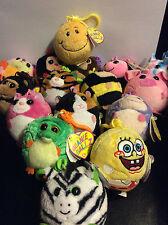 w-f-l TY BEANIE BALLZ KEY RING Selection Stuffed Toy Key Chain Ball