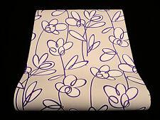 18059-30-5) hochwertige Vinyltapete Retro Design Tapete beige - violett- weiss