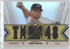 2012 Topps Triple Threads Relics Gold #TTR-18 Tommy Hanson Atlanta Braves Card