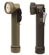 Mini Anglehead L.E.D. Flashlights - OD or Black LED Flash Lights w/ Bulbs