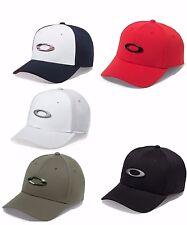 NEW OAKLEY TINCAN CAP HAT FLEX 911545 S/M L/XL BLACK BLUE GRAY RED OLIVE CAMO