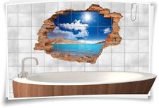 Fliesenaufkleber Fliesenbild Fliesenaufkleber Wanddurchbruch Meer Insel Sand