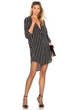 NWT Equipment Carmine Stripe Shirt Dress True Black/Pearl Blue Size XS, S $318