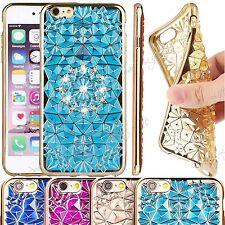 DE LUJO 3d Cristal Cuero Sintético Caja Diamante Brillante Funda para Iphone