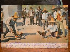 cpa mexique mexico pelea de gallos combat de coq illustrateur