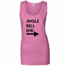 Rude Christmas Ladies Vest Jingle Bell End & Arrow Joke Adult Funny Xmas