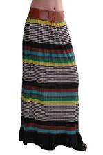 Womens Casual Multicolour Full Length Long Maxi Dress Ladies Skirt