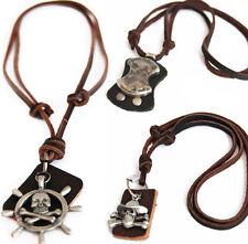 Caribbean cadena serie! Echt Leder collar, cadenas, Leather Necklace cadena